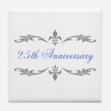 25th Wedding Anniversary Tile Coaster