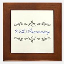 25th Wedding Anniversary Framed Tile