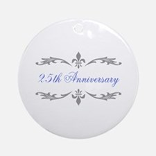 25th Wedding Anniversary Ornament (Round)