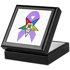 Eastern Star Cancer Awareness Keepsake Box