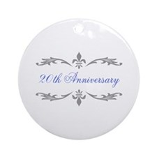 20th Wedding Anniversary Ornament (Round)