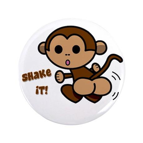 "Monkey Shake 3.5"" Button"
