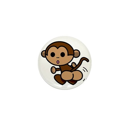 Monkey Shake Mini Button (100 pack)
