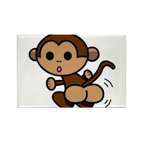 Monkey Shake Rectangle Magnet (100 pack)