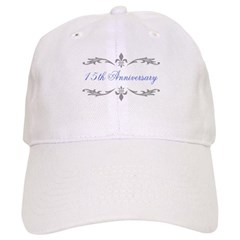 15th Wedding Anniversary Baseball Cap