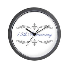 15th Wedding Anniversary Wall Clock