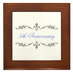 5th Wedding Anniversary Framed Tile