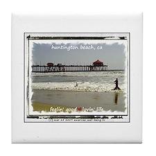 Cute Huntington beach ca Tile Coaster