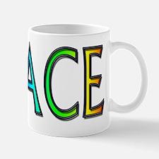 Peace word rainbow Mug