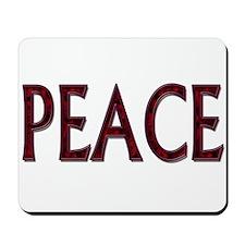 Peace word roses Mousepad