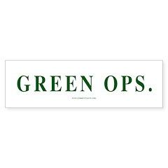 Green Ops. Bumper Sticker (50 pk)