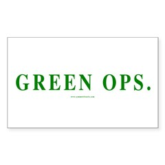 Green Ops. Rectangle Sticker 10 pk)