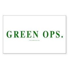 Green Ops. Rectangle Sticker 10 pk)