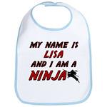 my name is lisa and i am a ninja Bib