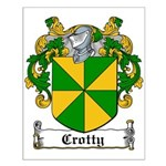 Crotty Coat of Arms Small Poster