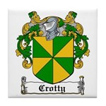 Crotty Coat of Arms Tile Coaster