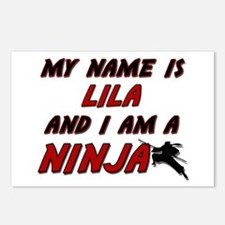 my name is lila and i am a ninja Postcards (Packag