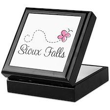 Pretty Sioux Falls Keepsake Box