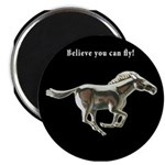Silver Horse Magnet