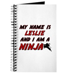 my name is leslie and i am a ninja Journal