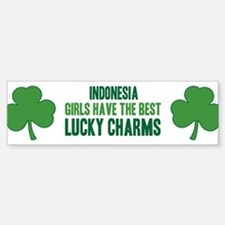 Indonesia lucky charms Bumper Bumper Bumper Sticker