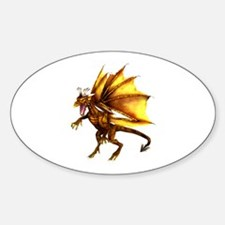 Yellow Dragon Oval Decal