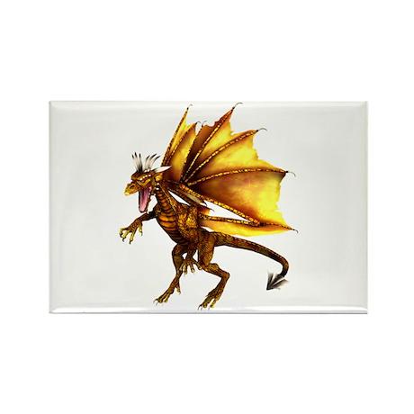 Yellow Dragon Rectangle Magnet