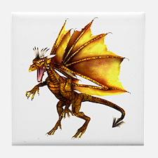 Yellow Dragon Tile Coaster