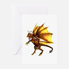 Yellow Dragon Greeting Cards (Pk of 10)