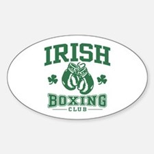 Irish Boxing Oval Decal