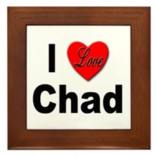 I Love Chad Framed Tile
