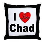 I Love Chad Throw Pillow