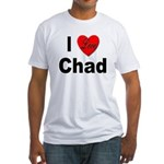 I Love Chad (Front) Fitted T-Shirt
