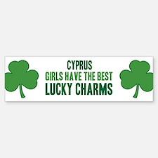 Cyprus lucky charms Bumper Bumper Bumper Sticker