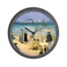 Manet, Beach at Boulogne Wall Clock