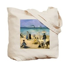 Manet, Beach at Boulogne Tote Bag