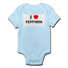 I LOVE ESTEFANIA Infant Creeper