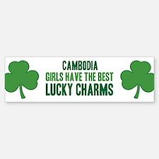 Cambodia lucky charms Bumper Bumper Bumper Sticker