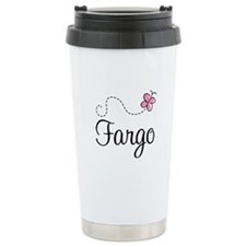 Pretty Fargo North Dakota Travel Mug