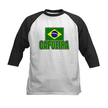 Capoeira - Brazil Flag Kids Baseball Jersey
