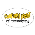 Confused Parent Oval Sticker
