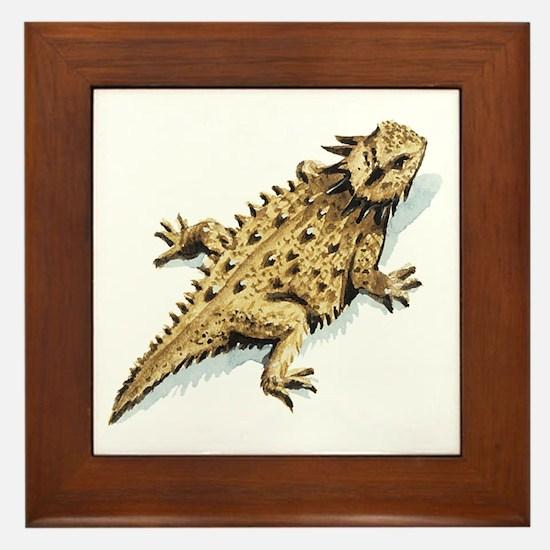 Regal Horned Lizard Framed Tile