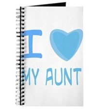 Blue I Heart (Love) My Aunt Journal
