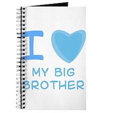 Blue I Heart (Love) My Big Br Journal