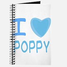 Blue I Heart (Love) Poppy Journal