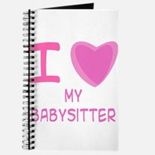 Pink I Heart (Love) My Babysi Journal