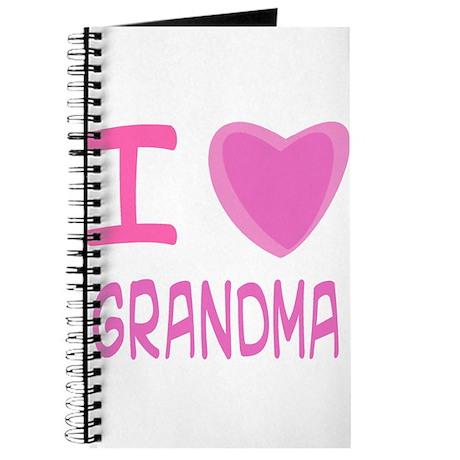 Pink I Heart (Love) Grandma Journal