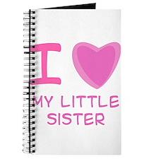 Pink I Heart (Love) My Little Journal