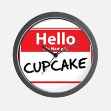 Hello My Name is Cupcake Wall Clock