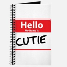 Hello My Name is Cutie Journal